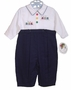 "<img src=""https://p11.secure.hostingprod.com/@grammies-attic.com/ssl/images/blue-sold-1.gif""> NEW Sarah Louise Navy and White Romper with Train Embroidery"
