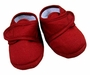 NEW Will'Beth Red Cotton Pique Shoes with Velcro Closure