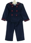 NEW Gordon & Company Navy Corduroy Sailor Suit with Red Trim