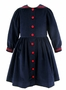 NEW Gordon & Company Navy Corduroy Sailor Dress with Red Trim