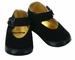 NEW Black Velveteen Mary Jane Style Baby Shoes with Satin Bow