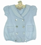 NEW Little Linens Pale Blue English Style Sailor Romper