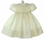 "<img src=""https://p11.secure.hostingprod.com/@grammies-attic.com/ssl/images/blue-sold-1.gif""> NEW Feltman Brothers Pale Yellow Smocked Dress with Fagoted Collar and Cuffs"
