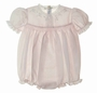 "<img src=""https://p11.secure.hostingprod.com/@grammies-attic.com/ssl/images/blue-sold-1.gif""> NEW Feltman Brothers Pink Smocked Bubble with Lace and Embroidery"