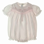 "<img src=""https://p11.secure.hostingprod.com/@grammies-attic.com/ssl/images/blue-sold-1.gif""> NEW Feltman Brothers Pink Smocked Bubble with Embroidered Ducks"