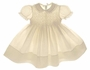 "<img src=""https://p11.secure.hostingprod.com/@grammies-attic.com/ssl/images/blue-sold-1.gif""> NEW Feltman Brothers Palest Yellow Smocked Dress with Lace Trimmed Collar"