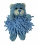 NEW Chenille Blue Baby Bear Rattle