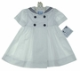 NEW Katie & Company White Sailor Dress with Navy Trim