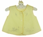 Vintage Yellow Diaper Shirt Ready to Be Embroidered