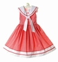 "<img src=""https://p11.secure.hostingprod.com/@grammies-attic.com/ssl/images/blue-sold-1.gif""> NEW C. I. Castro Red Checked Sleeveless Sailor Dress for Little Girls"