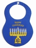 NEW Rosalina Blue Chanukah Bib with Appliqued Menorah