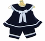 NEW Rare Editions Navy Sailor Capri Set