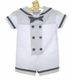 "<img src=""https://p11.secure.hostingprod.com/@grammies-attic.com/ssl/images/blue-sold-1.gif""> NEW Rare Editions White Sailor Shortall with Matching Sailor Hat"