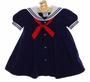 NEW Petit Ami Navy Sailor Dress with Red Tie