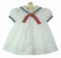 NEW Petit Ami White Sailor Dress with Red Tie