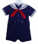 NEW Petit Ami Navy Button On Sailor Suit