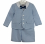 "<img src=""https://p11.secure.hostingprod.com/@grammies-attic.com/ssl/images/blue-sold-1.gif""> NEW Good Lad Eton Style Blue and White Seersucker Shorts Suit Set"