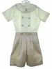 "<img src=""https://p11.secure.hostingprod.com/@grammies-attic.com/ssl/images/blue-sold-1.gif""> NEW Chabre Ivory and Mocha Silk Blend Button on Shorts Set"