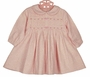NEW Sarah Louise Pink Print Pleated Dress with Rosebud Trim