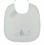 "<img src=""https://p11.secure.hostingprod.com/@grammies-attic.com/ssl/images/blue-sold-1.gif""> NEW Willbeth White Scalloped Bib with Embroidered Boat"