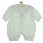 NEW Sophie Dess White Cotton Long Sleeved Sailor Romper with Blue Trim