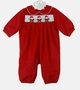 "<img src=""https://p11.secure.hostingprod.com/@grammies-attic.com/ssl/images/blue-sold-1.gif""> NEW Bailey Boys Red Pinwale Corduroy Romper with Santa Embroidery"