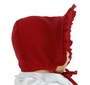 "<img src=""http://site.grammies-attic.com/images/blue-sold-1.gif""> NEW Bailey Boys Vintage Style Red Pinwale Corduroy Bonnet with Ruffled Trim"