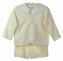 NEW Gordon and Company Ivory Gabardine Eton Suit with Shorts