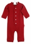 NEW Dark Red Drop Seat Style Monogrammable Baby Pajamas