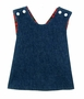 NEW Denim and Red Plaid Reversible Pinafore Style Jumper