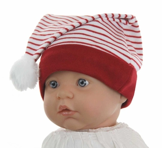b161e2beb1a NEW White Santa s Elf Hat with Red Stripes and Red Trim