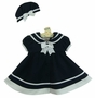 "<img src=""https://p11.secure.hostingprod.com/@grammies-attic.com/ssl/images/blue-sold-1.gif""> NEW Shirley Temple Style Navy Blue Sailor Dress and Matching Beret for Babies"