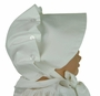 "<img src=""http://site.grammies-attic.com/images/blue-sold-1.gif""> NEW Vintage Style Beaufort Bonnet in White"