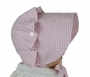 "<img src=""http://site.grammies-attic.com/images/blue-sold-1.gif"">  NEW Vintage Style Beaufort  Bonnet in Pink Checked Gingham"