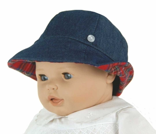 54255805421 NEW Beaufort Bucket Hat in Denim and Red Plaid