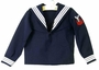 Vintage Navy Long Sleeved Sailor Shirt with White Braid Trim