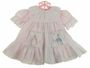 "<img src=""https://p11.secure.hostingprod.com/@grammies-attic.com/ssl/images/blue-sold-1.gif""> Beatrix Potter Pink Dress with White Peter Rabbit Embroidered Pinafore"