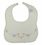 """<img src=""""https://p11.secure.hostingprod.com/@grammies-attic.com/ssl/images/blue-sold-1.gif"""">  NEW Will'Beth Bib with Bluebird Embroidery and Yellow Scalloped Edges"""