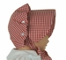 NEW Vintage Style Beaufort Bonnet in Red Checked Gingham