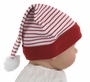 NEW White Santa's Elf Hat with Red Stripes and Red Trim