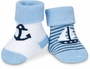 NEW Two-Pair Pack of Blue and White Nautical Sock Style Booties