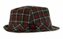 NEW Red and Gray Plaid Fedora Style Hat