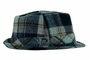 NEW Navy and Brown Plaid Fedora Style Hat