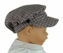 NEW Will'Beth Red and Black Plaid Newsboy Hat