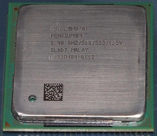 Intel Sl6D7 2.4Ghz Cpu orthwood 512Kb Cache, 533Mhz Fsb - Socket 4