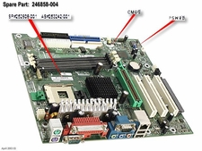 246858-004 Compaq Motherboard System Board Spider-S With Nic