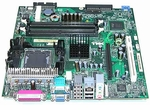 F7739 Dell System Board GX280 DT 4 RAM Slots, 1 PCI, 1 AGP - New