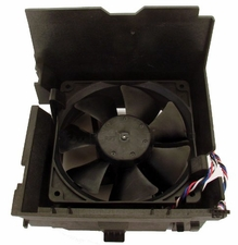 Dell H9073 fan 12V with 4 wire cable / 5 pin & shroud for Opti & Dim SMT Mini-Tower