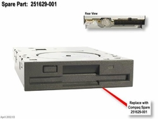 251629-001 Compaq 1.44MB, 3.5in floppy disk drive carbon black