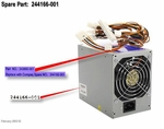 244166-001 Compaq Power Supply 250 Watt With Pfc For Evo D300/D50